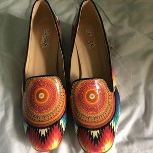 Neefs Southwestern pattern shoes